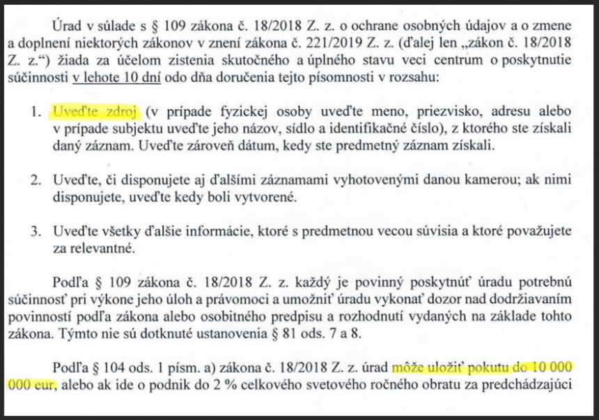Statement of investigace.cz: We protect our sources